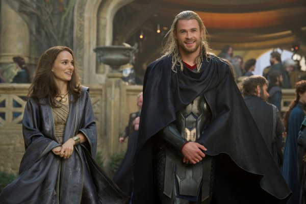 """Marvel's Thor: The Dark World""  Jane Foster (Natalie Portman) and Thor (Chris Hemsworth)  Ph: Jay Maidment  © 2013 MVLFFLLC.  TM & © 2013 Marvel.  All Rights Reserved."